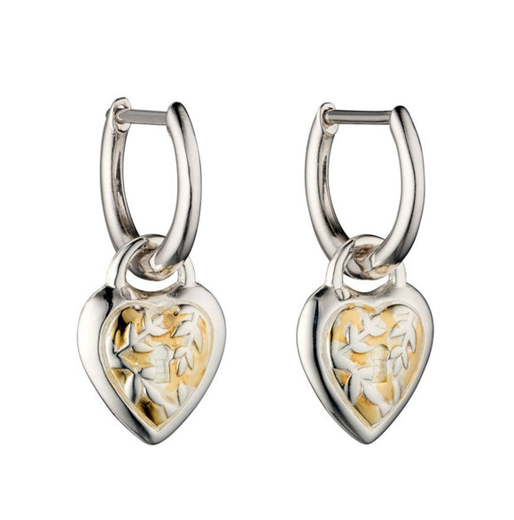 Heart Lock Hoop Earrings