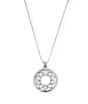 Load image into Gallery viewer, ChloBo Diamond Cut Chain With Heart Mandala Pendant Silver - Maudes The Jewellers