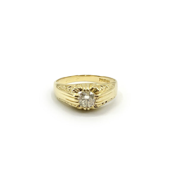 Pre-owned 18ct Yellow Gold, Diamond Gypsey Ring