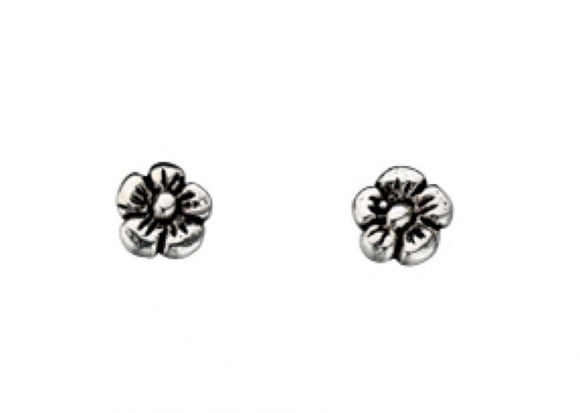 Sterling Silver Cute Flower Stud Earrings - Maudes The Jewellers