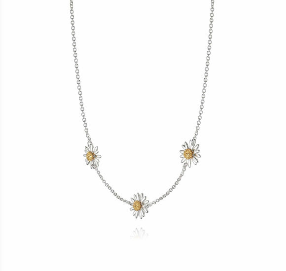 Daisy Silver Daisy Chain Necklace