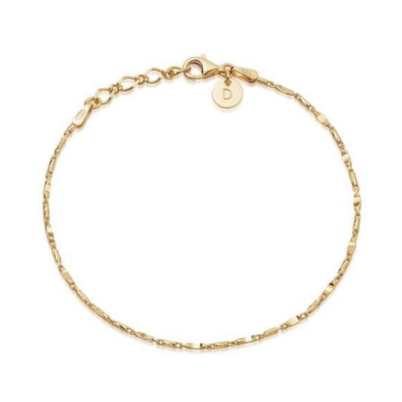 Daisy Isla Tidal Twist Anklet 18Ct Gold Plate - Maudes The Jewellers
