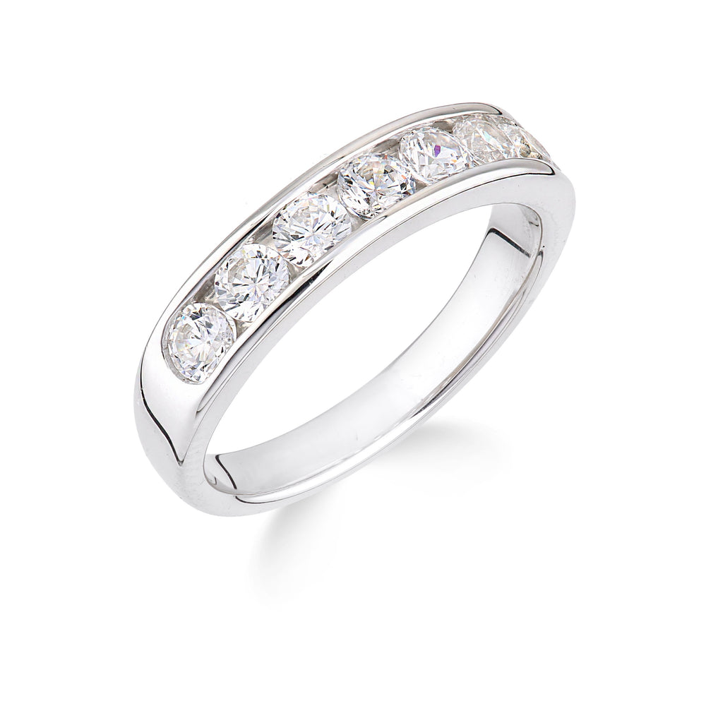 14k White Gold and Diamond Eternity Ring