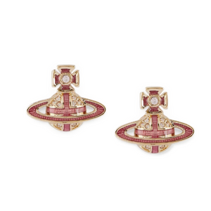 Vivienne Westwood Suffolk Bas Relief Earrings Gold
