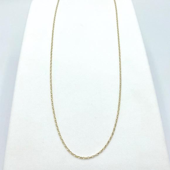 "9ct Yellow Gold Diamond Cut Belcher Chain 20"" - Maudes The Jewellers"