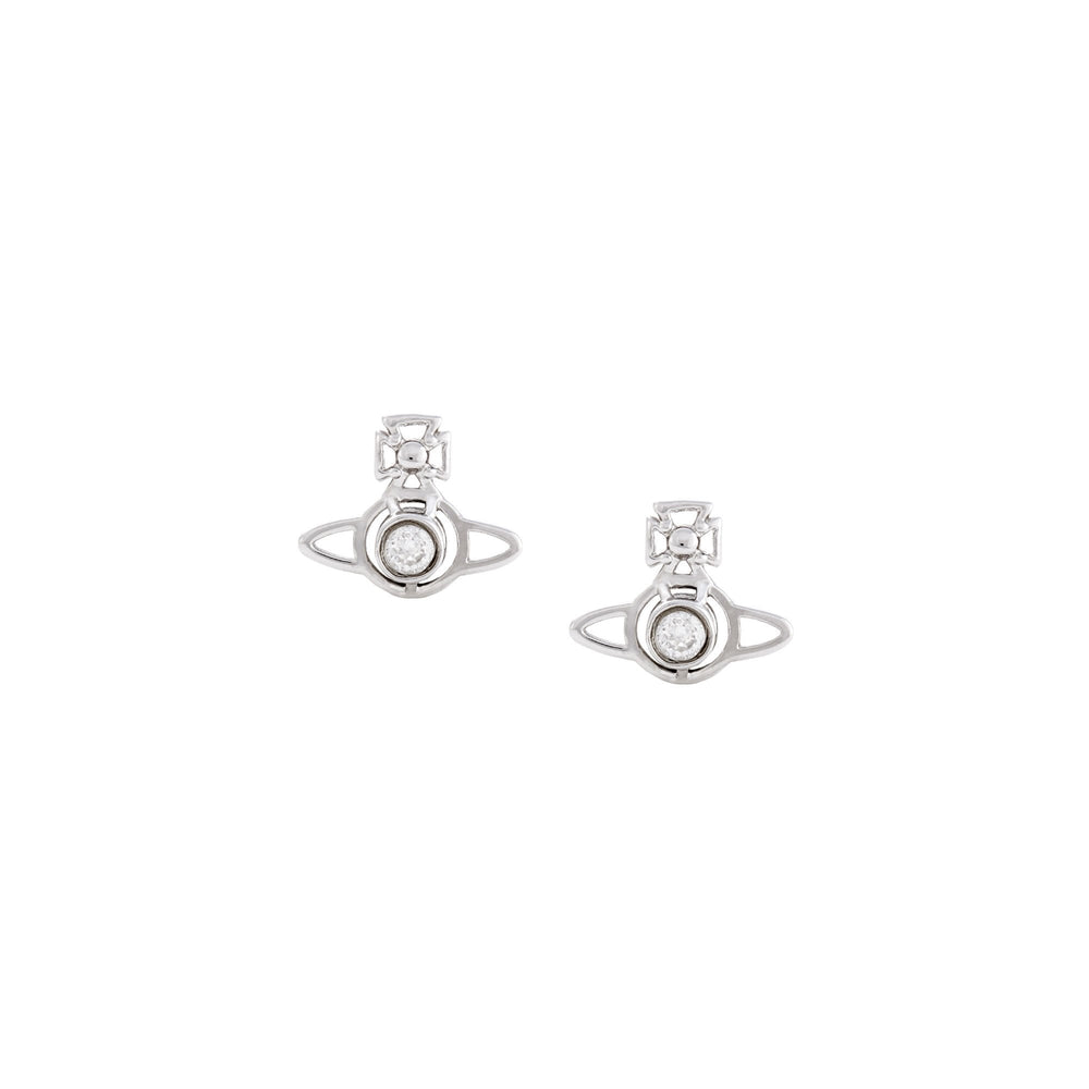 Load image into Gallery viewer, Vivienne Westwood Nora Earrings Rhodium White
