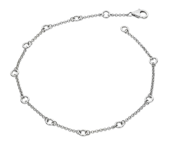 Lucy Quartermaine Sterling Silver Circle Anklet - Maudes The Jewellers