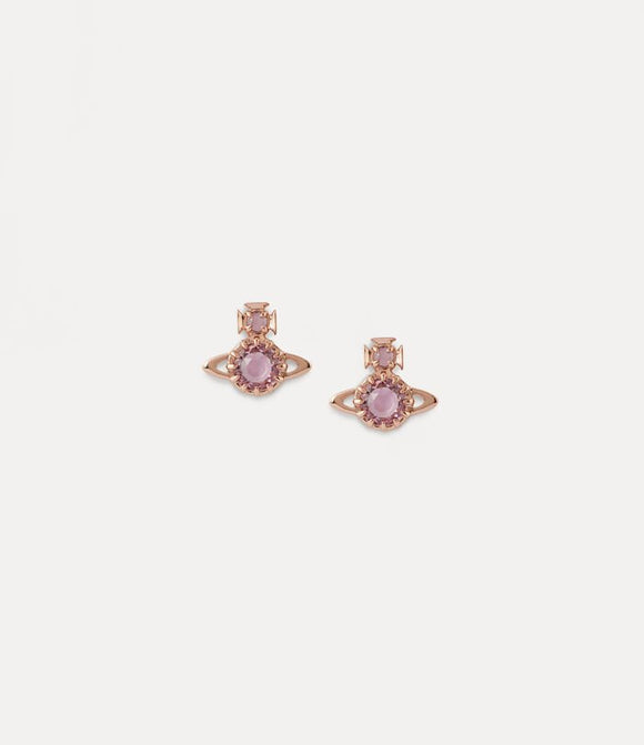 Vivienne Westwood Latifah Earrings Pink Gold