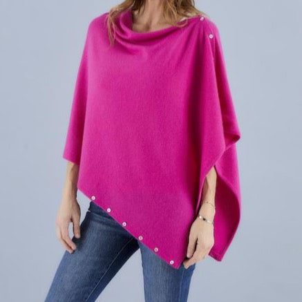 Love Molly - Hot Pink - Wool, Silk & Cashmere Poncho