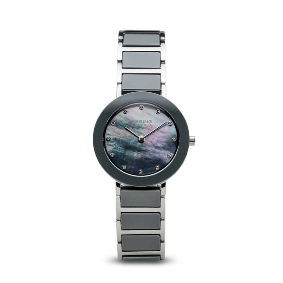 Bering Ceramic Polished Silver Ladies Watch 11429-789 - Maudes The Jewellers