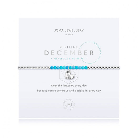 Joma Jewellery a Little Birthstone December Turquoise Bracelet