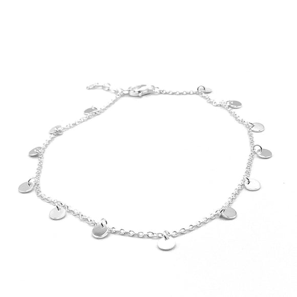 Mini Disk Anklet - Silver - Maudes The Jewellers