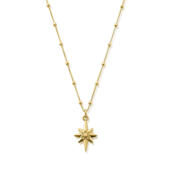 ChloBo Bobble Chain Lucky Star Necklace - Gold