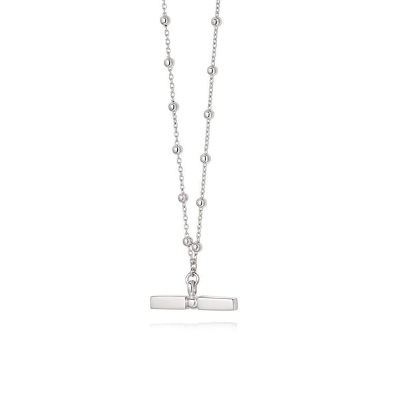 Daisy Stacked T Bar Necklace Sterling Silver - Maudes The Jewellers
