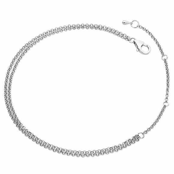 Lucy Quartermaine Double Chain Anklet - Maudes The Jewellers