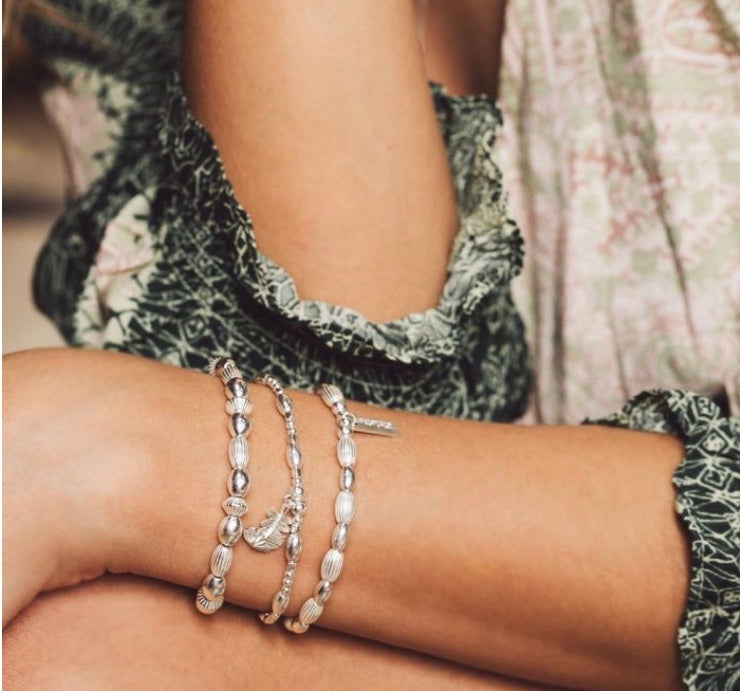ChloBo Double Rice Bracelet Silver - Maudes The Jewellers