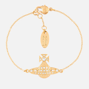 Vivienne Westwood Minnie Bas Relief Bracelet - Gold Crystal - Maudes The Jewellers