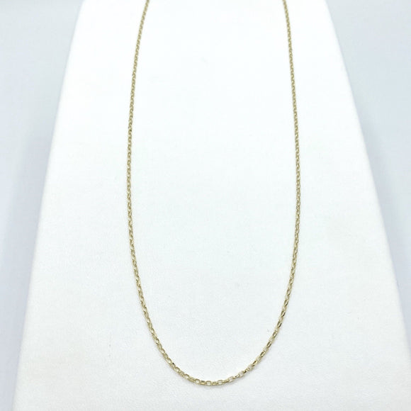 "9ct Yellow Gold Diamond Cut Belcher Chain 22"" - Maudes The Jewellers"