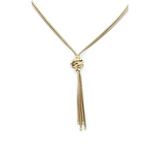 9ct Yellow Gold Tassel and Knot Necklace