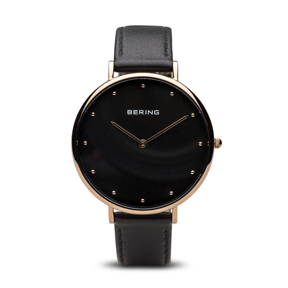 Bering Ladies Classic Polished Rose Gold Watch 14839-462 - Maudes The Jewellers