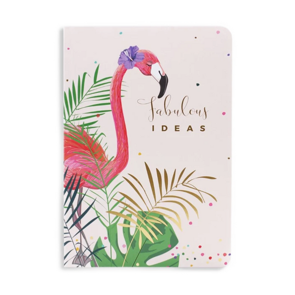 Belly Button Designs Flamingo Softback Notebook