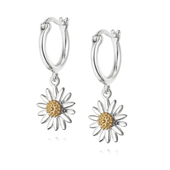 Daisy Sterling Silver Drop Earrings