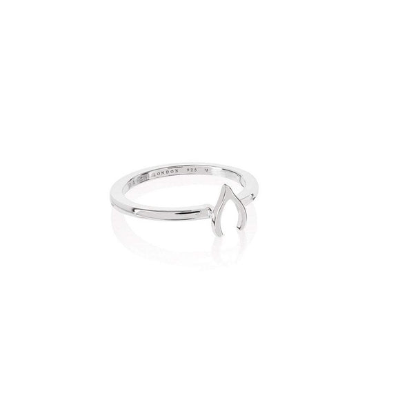 Daisy London Silver Good Karma Wishbone Ring - Maudes The Jewellers