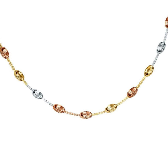 Real Effect Tricolour Beaded Necklace