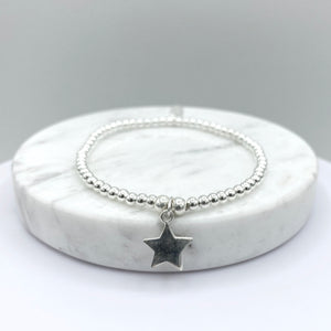 Load image into Gallery viewer, Ettie Thinbead Star Bracelet