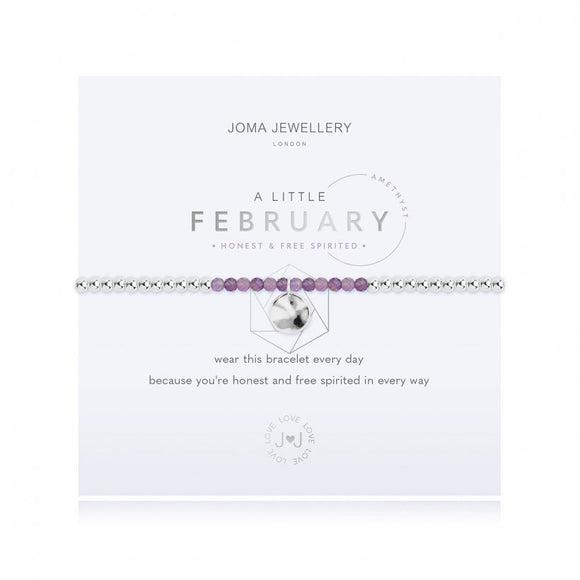 Joma Jewellery a Little Birthstone February Amethyst Bracelet