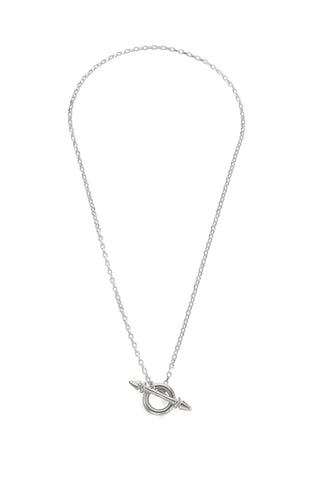 Loop Arrow Silver Necklace