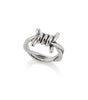 SILVER BIG BARBED WIRE RING