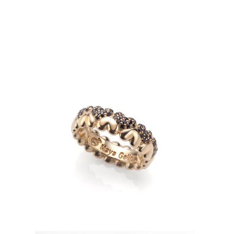 14k gold hearts and diamonds ring