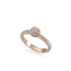 14k gold spike ring with diamonds