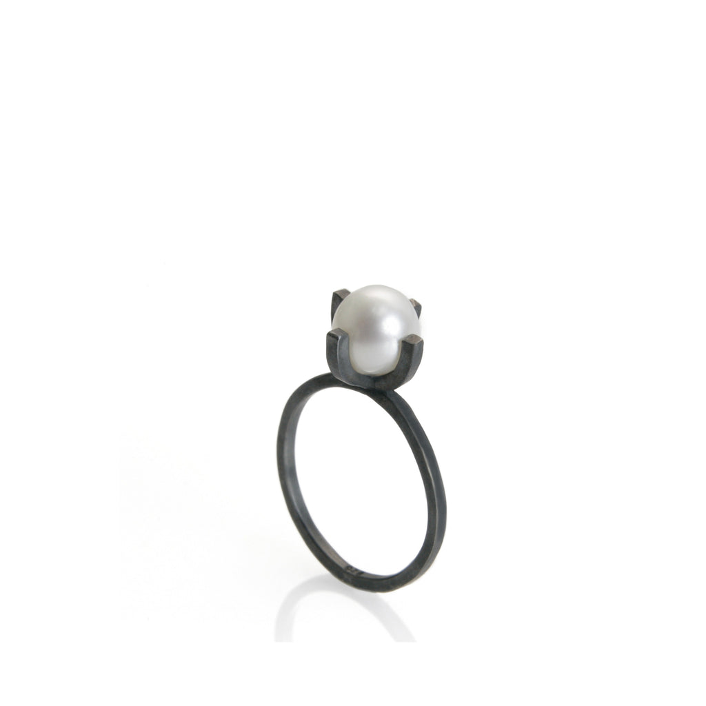 sr oxi oxidised engagement products rings rrp moon crater momocreatura oxidized ring silver