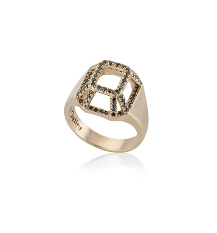 14k yellow gold highlights Toy Ring