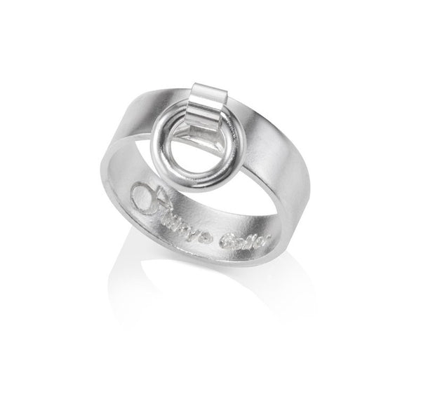 Silver knock ring
