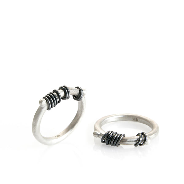 silver hoops ring