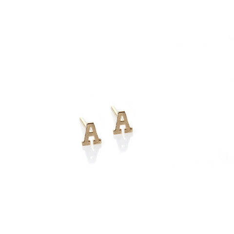 A - 14k gold studs earrings