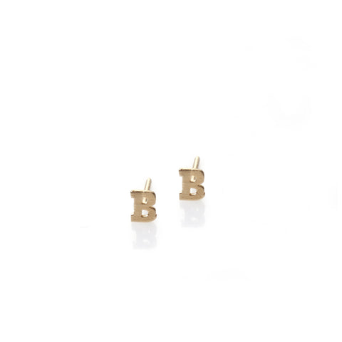 B - 14k gold studs earrings