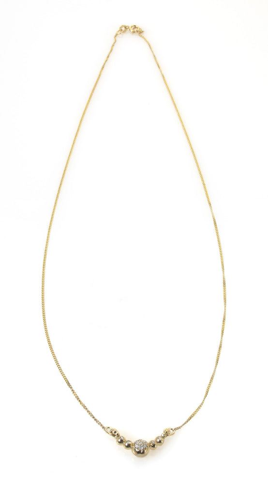 gold diamond simple row necklace diamonds necklaces w white en