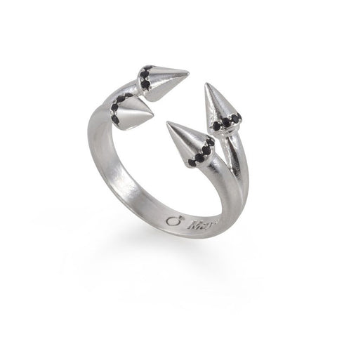 Double Silver Arrows Ring
