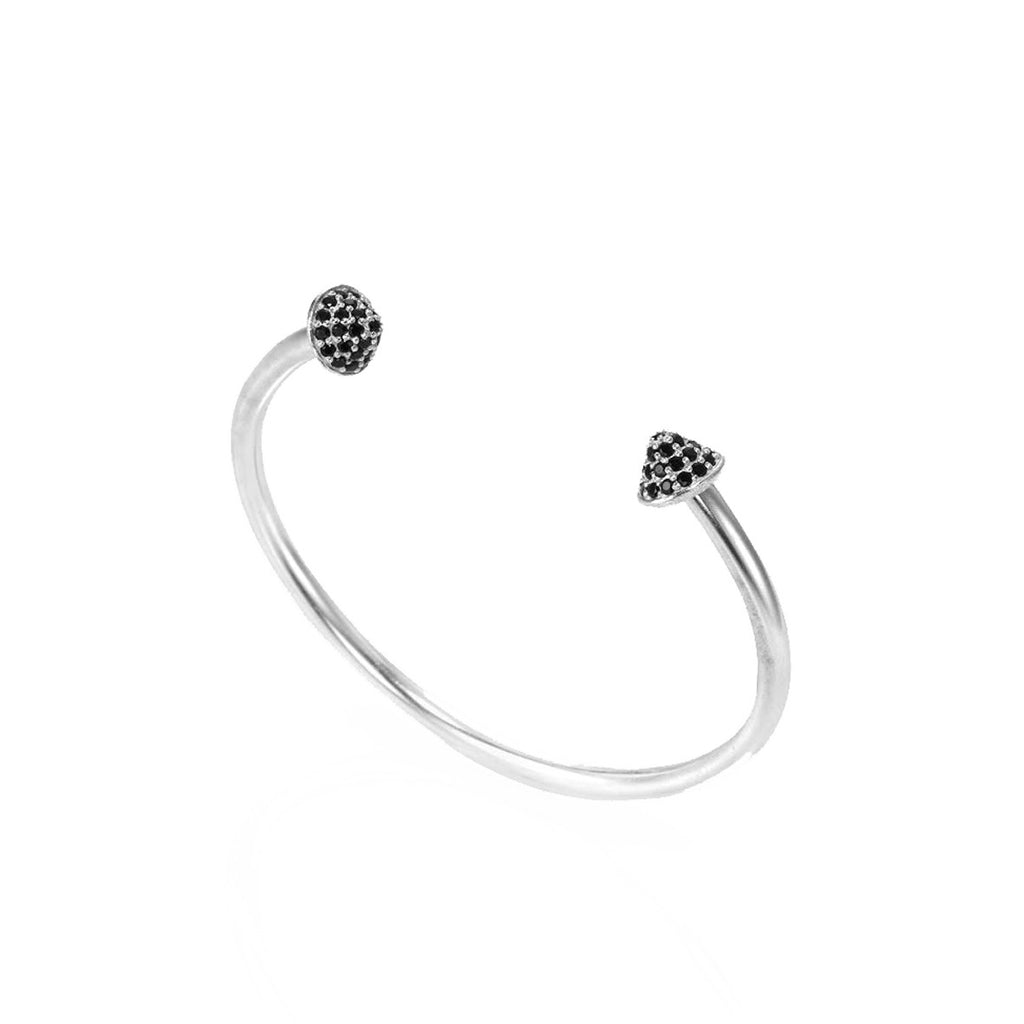 cute charm item small from girl bracelet thin jewelry silver women sterling in round bracelets gift chain black crystal for