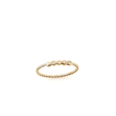 14k gold ring with 5 diamonds