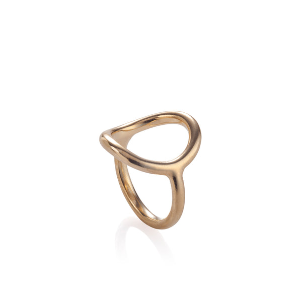 gold plated hole ring