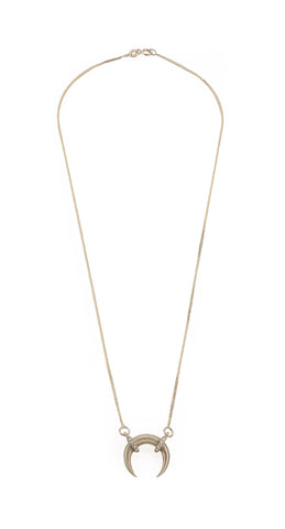 14k gold moon necklace with diamonds