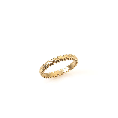 14k gold hearts ring