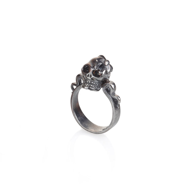 silver skull princess ring