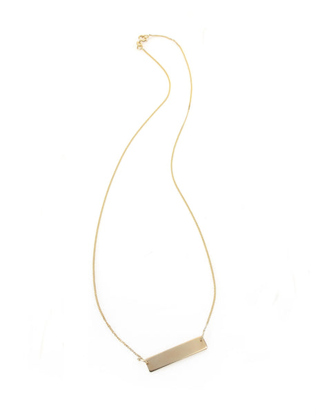 14k gold necklace with a gold flat line