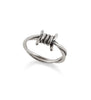 SILVER SMALL BARBED WIRE RING